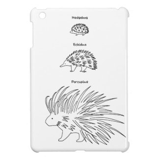 < Beam - zu (English - black > Hedgehog, Echidna Cover For The iPad Mini