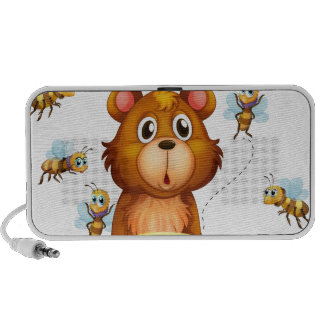Bear and bees mp3 speaker