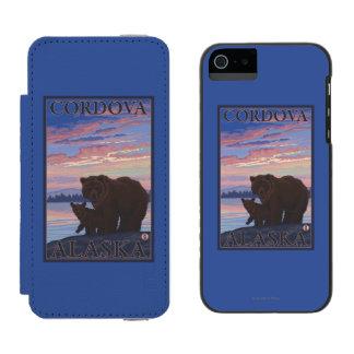 Bear and Cub - Cordova, Alaska Incipio Watson™ iPhone 5 Wallet Case