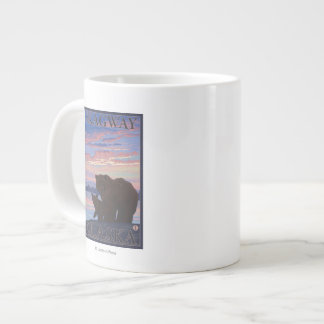 Bear and Cub - Skagway, Alaska Large Coffee Mug