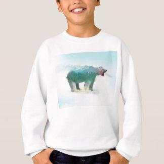 Bear double exposure - polar bear - bear art sweatshirt