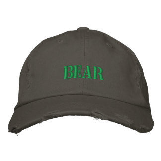 BEAR EMBROIDERED BASEBALL CAP