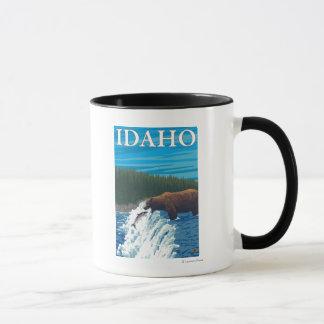 Bear Fishing in River - Idaho Mug