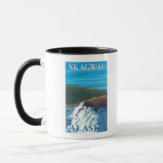 Bear Fishing in River - Skagway, Alaska Mug