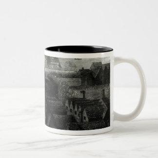 Bear Garden, 1647 Two-Tone Coffee Mug