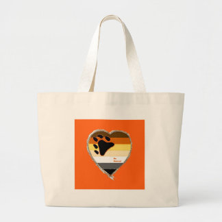 Bear Heart Tote Bags