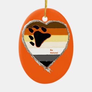 Bear Heart Ceramic Oval Decoration