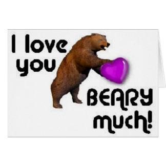 bear heart greeting card