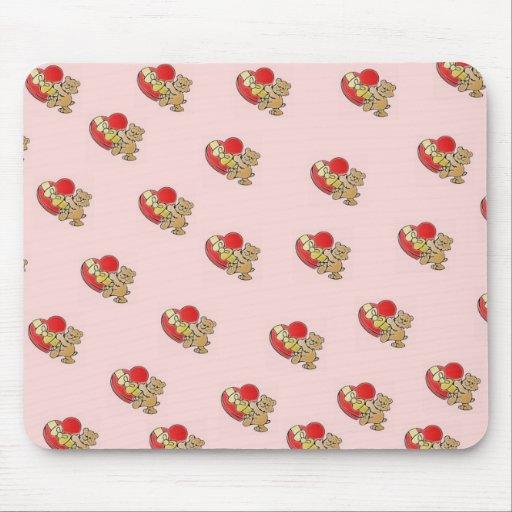 Bear Heart Mouse Pad