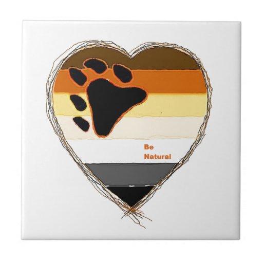 Bear Heart Ceramic Tiles