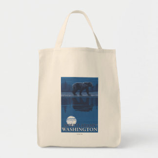 Bear in Moonlight - Mount Adams, Washington Tote Bag