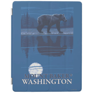 Bear in Moonlight - Mount Baker, Washington iPad Cover