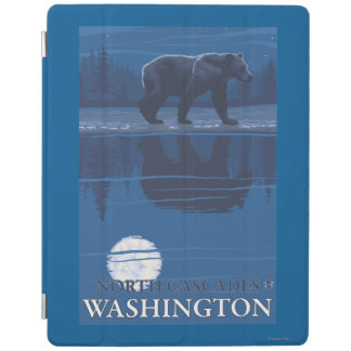 Bear in Moonlight - North Cascades, Washington iPad Cover