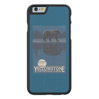 Bear in Moonlight - Yellowstone National Park Carved Maple iPhone 6 Case