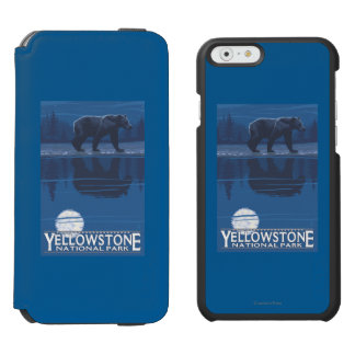 Bear in Moonlight - Yellowstone National Park Incipio Watson™ iPhone 6 Wallet Case