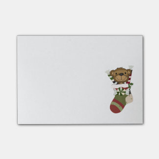 Bear in Stocking Sticky Notes