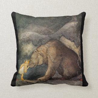 Bear Kiss Throw Pillow