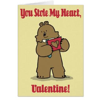 "Bear Lawyer ""Stolen Heart"" - Valentine Card"