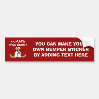 Bear Nurses Have Heart T-shirts and Gifts Car Bumper Sticker