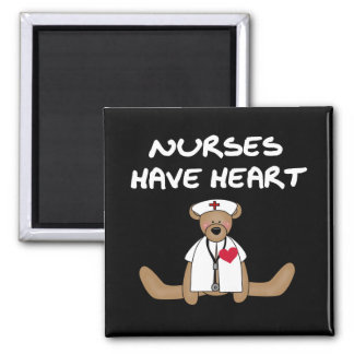 Bear Nurses Have Heart T-shirts and Gifts Square Magnet