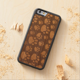 bear paw on wood background cherry iPhone 6 bumper case