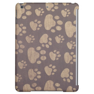 bear paws on wood background iPad air covers