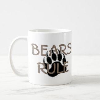 Bear Pride Bear Paw Bears Rule Basic White Mug