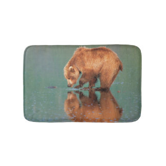 Bear reflections bath mat