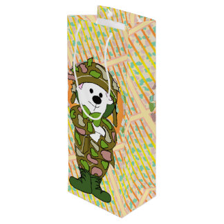 BEAR SOLDIER BAG Gift  WINE GLOSSY