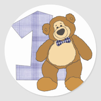 Bear with 1 Circle Stickers