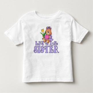 Bear with Heart Little Sister Toddler T-Shirt