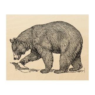 Bear Wood Canvas