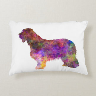 Bearded collie in watercolor decorative cushion