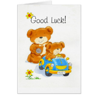 Bearhugs 'Good Luck!' Card
