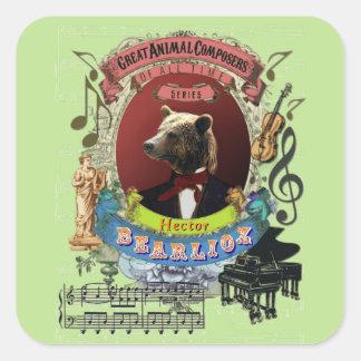 Bearlioz Bear Funny Great Animal Composer Berlioz Square Sticker