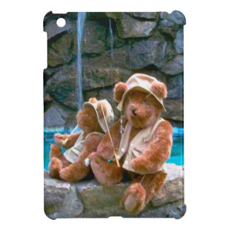 Bears by the pool iPad mini cover