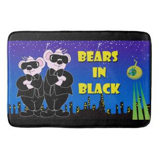 BEARS IN BLACK LARGE Bath Mat