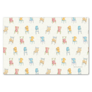Bears On Chairs Pattern Tissue Paper