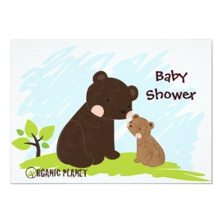 Bears Organic Planet Baby Shower Invitaitons 13 Cm X 18 Cm Invitation Card