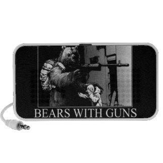 Bears with guns laptop speaker