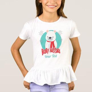 Beary Huggable Winter Christmas Bear Personalized T-Shirt