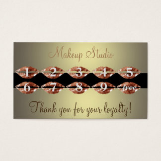 Beaty makeup salon artist loyalty card