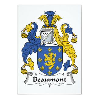 Beaumont Family Crest Card