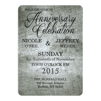 Beautiful 10 Year Tin Anniversary Invitation