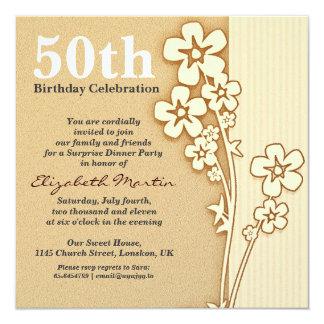beautiful 50th birthday invitation with sakura