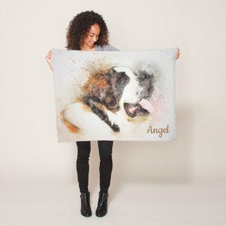 Beautiful Abstract Saint Bernard Fleece Blanket