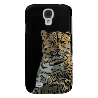 Beautiful Abstract Tiger Black Background Galaxy S4 Case