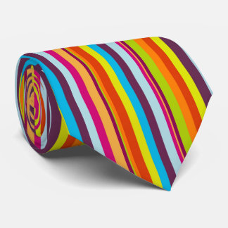 Beautiful and Colourful Vertical Stripes Necktie
