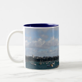 Beautiful Auckland Skyline Two-Tone Coffee Mug