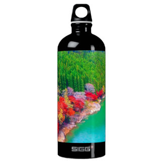 Beautiful autumn forest at the rivers coast SIGG traveler 1.0L water bottle